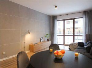 płyty betonowe, salon, styl nowoczesny